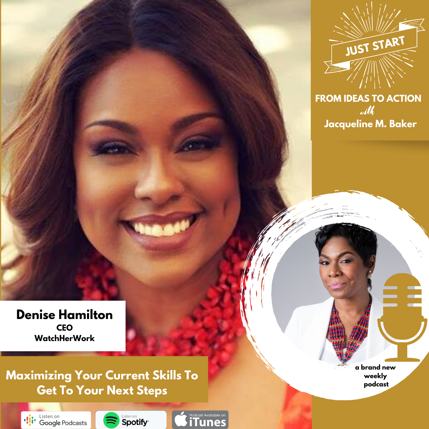Denise Hamilton - Podcast Graphic