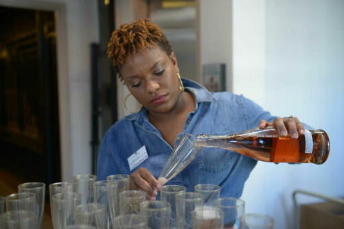 Mixologist, Jennifer Peeples, during mid day cocktail refresher